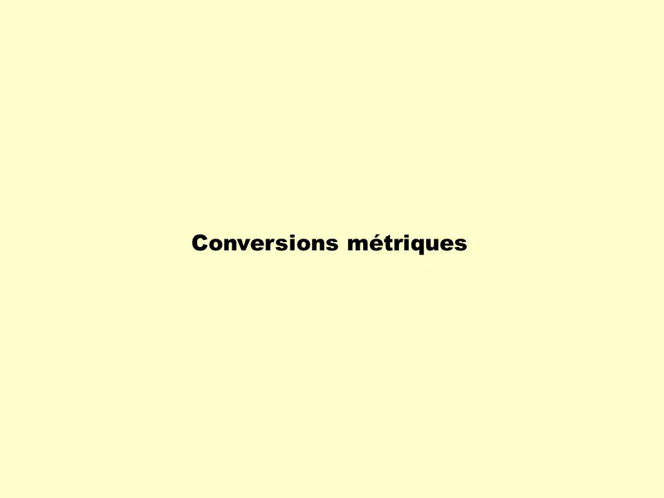 Conversions métriques