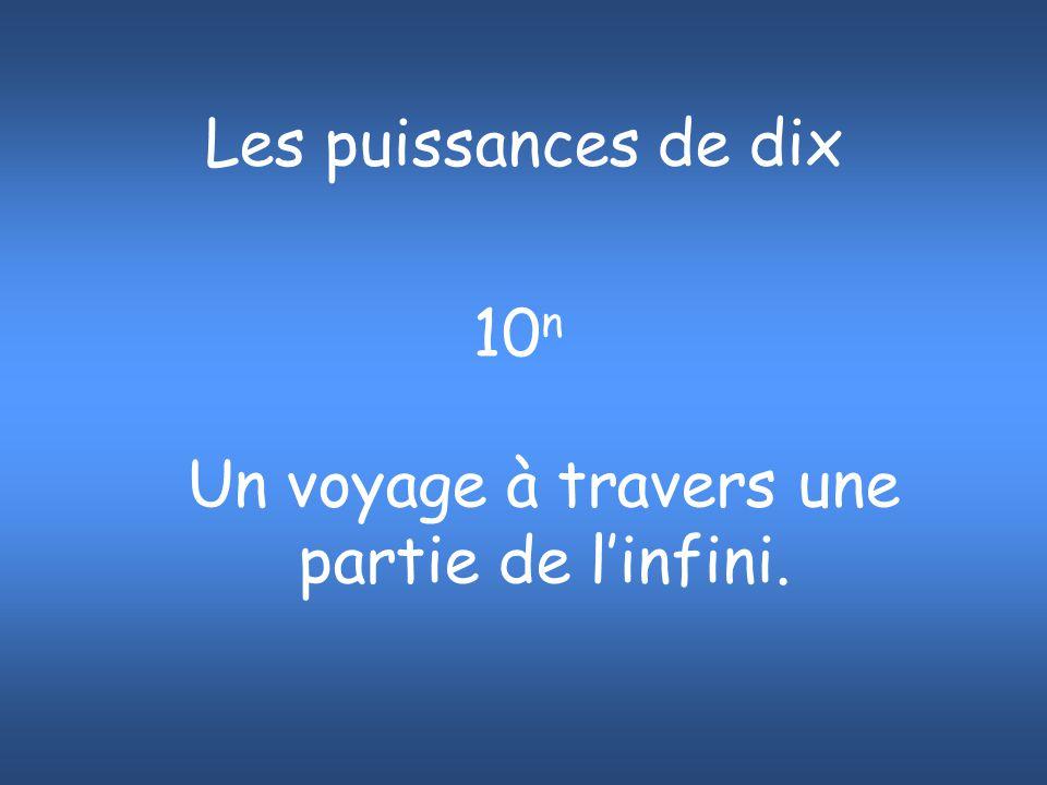 10 10 mètres = 10 000 000 000 mètres Quatre jours de l orbite terrestre.