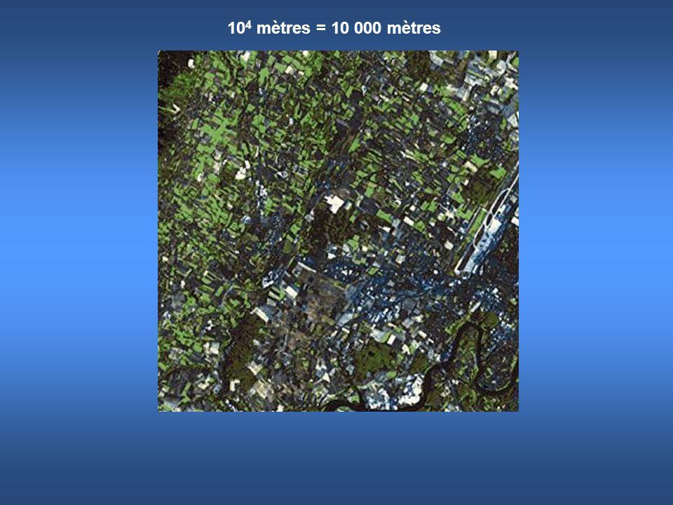 10 5 mètres = 100 000 mètres