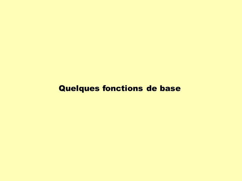 Chaque fonction possède sa propre courbe.