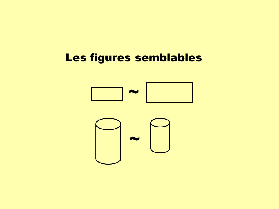 Les figures semblables possèdent les propriétés suivantes: - mêmes formes; - mêmes mesures dangles homologues; - rapports des côtés homologues proportionnels.