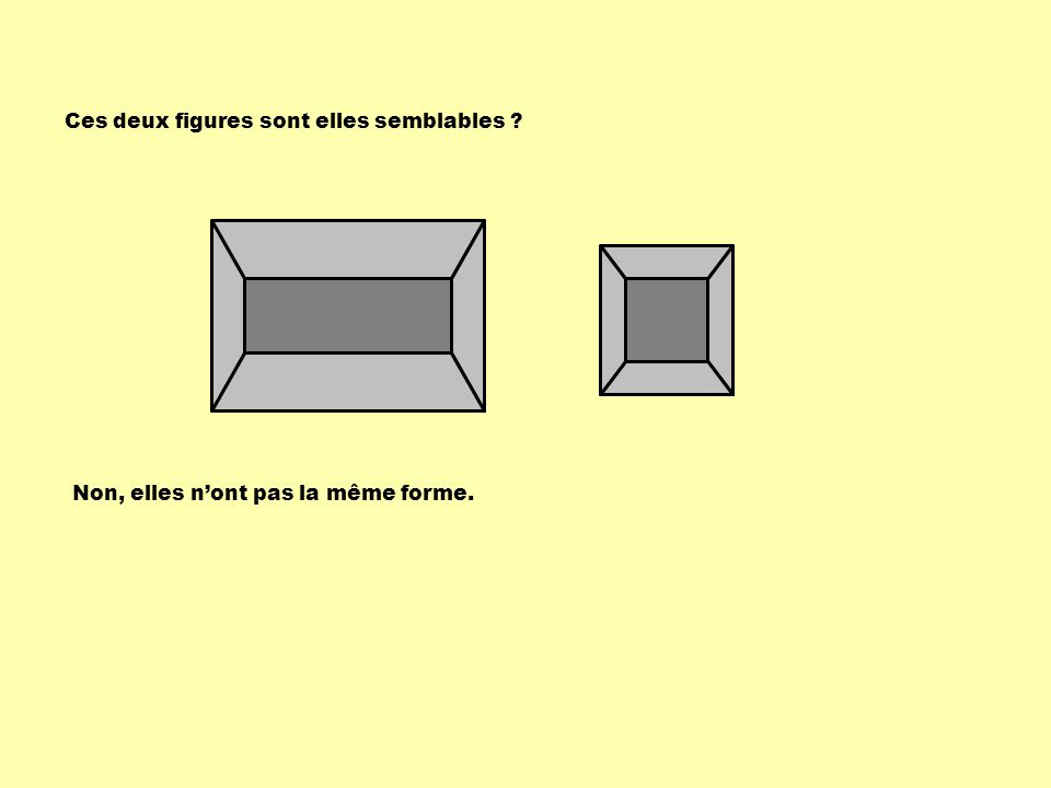 Sachant que les deux rectangles sont semblables, que vaut la variable x .
