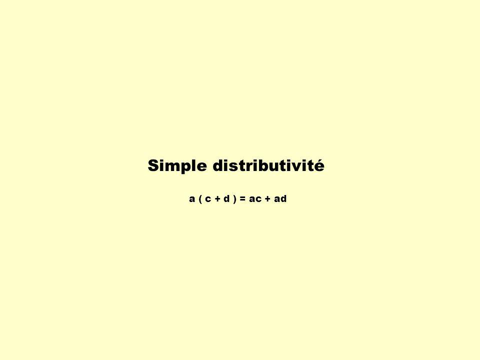 Simple distributivité a ( c + d ) = ac + ad