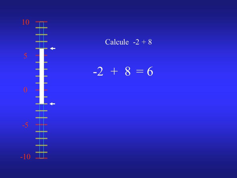 0 10 -10 -5 5 Calcule -2 + 8 -28= 6+