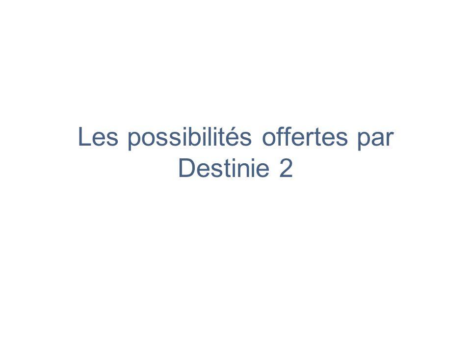 Les possibilités offertes par Destinie 2