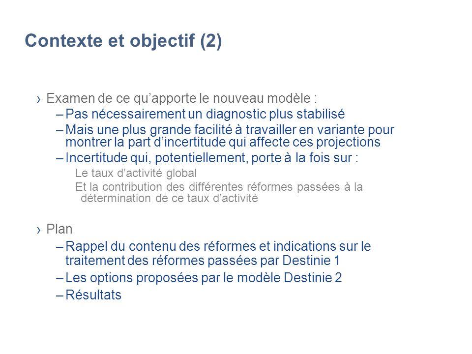 Contexte et objectif (2) Examen de ce quapporte le nouveau modèle : –Pas nécessairement un diagnostic plus stabilisé –Mais une plus grande facilité à