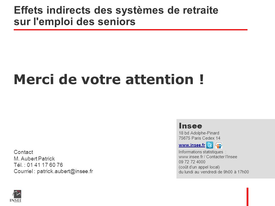 Merci de votre attention . Contact M. Aubert Patrick Tél.