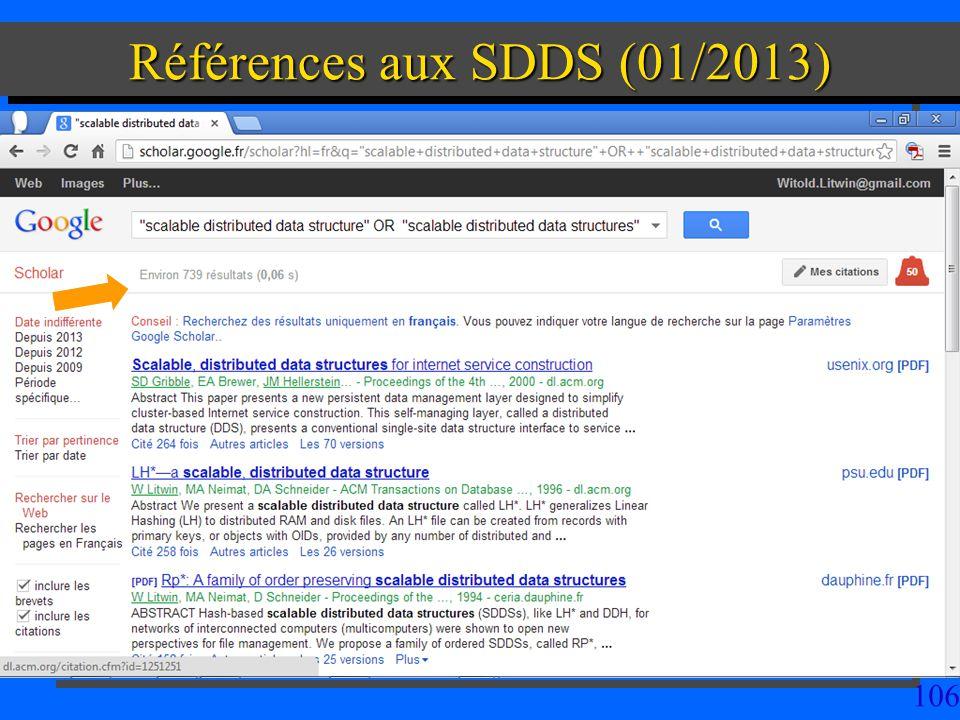 106 Références aux SDDS (01/2013)