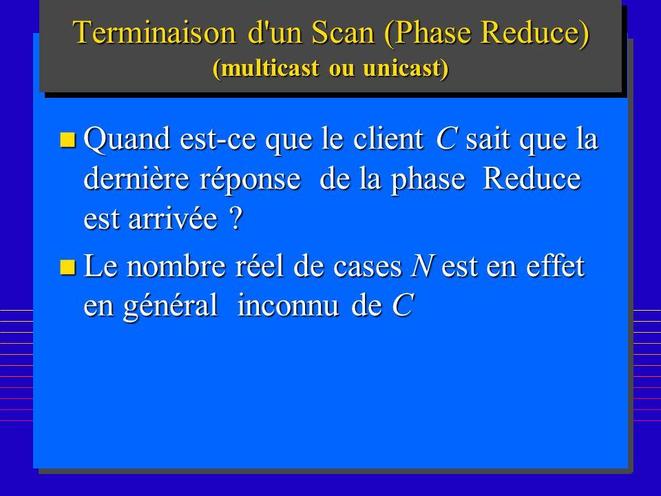 188 n Quand est-ce que le client C sait que la dernière réponse de la phase Reduce est arrivée ? n Le nombre réel de cases N est en effet en général i
