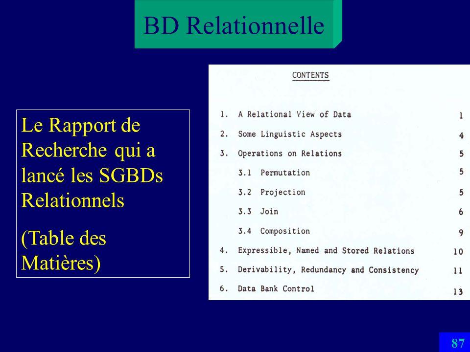 86 BD Relationnelle Le Rapport de Recherche qui a lancé les SGBDs Relationnels (Résumé)