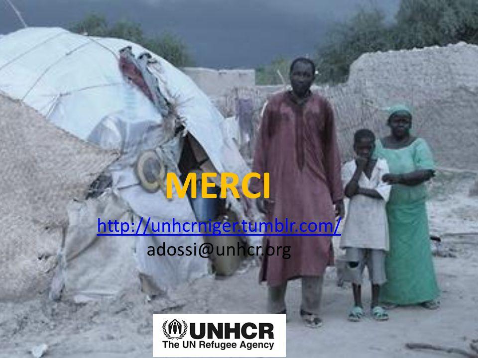 MERCI http://unhcrniger.tumblr.com/ adossi@unhcr.org