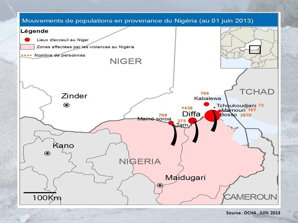 Collaboration entre le Gouvernement et le SNU Lettre du Ministre de lintérieur, de la sécurité publique, de la décentralisation et des affaires réligieuses du 19 Juin 2013 à lUNHCR demandant lassistance de lUNHCR Elaboration dune stratégie de protection et dassistance aux populations affectées par la crise du Nigeria par lUNHCR (Juillet 2013) Arrêté ministériel sur le statut juridique des réfugiés nigérians (protection temporaire) du 04 Décembre 2013 Table ronde sur la protection internationale à Diffa (11 Février 2014) 4