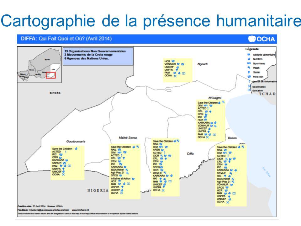 Cartographie de la présence humanitaire (basé sur loutil de priorisation) 9