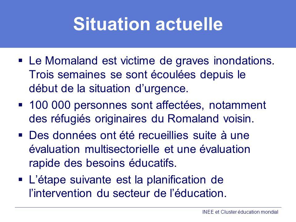 Situation actuelle Le Momaland est victime de graves inondations.