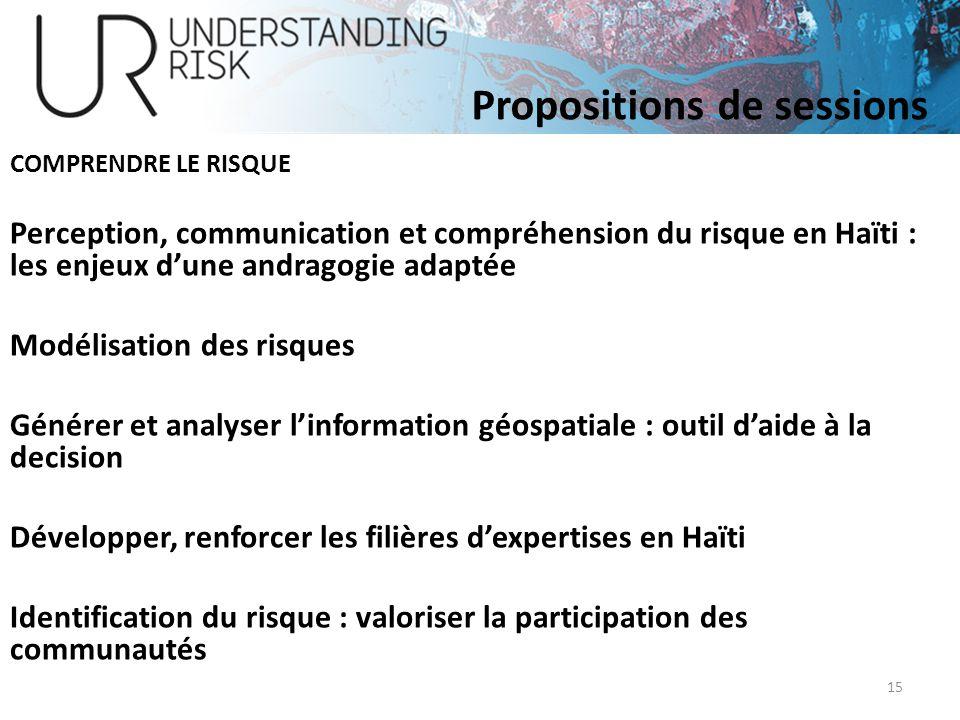 COMPRENDRE LE RISQUE Perception, communication et compréhension du risque en Haïti : les enjeux dune andragogie adaptée Modélisation des risques Génér