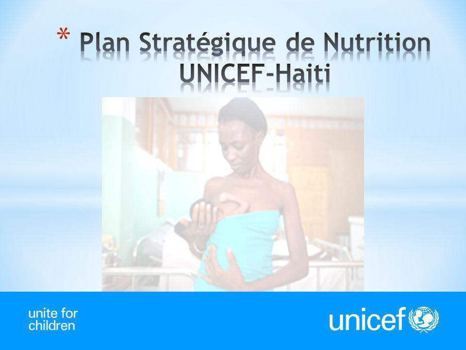 * En Haïti plus de 33% de la mortalité infanto-juvénile est attribuable a la malnutrition.