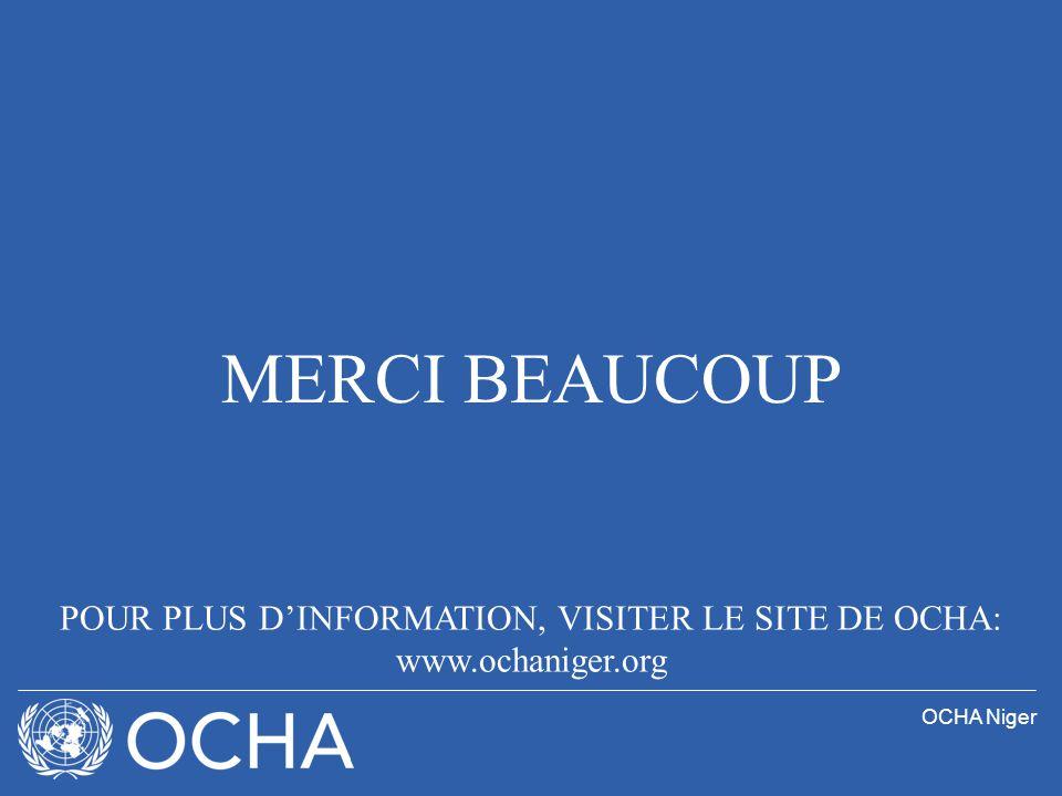 OCHA Niger MERCI BEAUCOUP POUR PLUS DINFORMATION, VISITER LE SITE DE OCHA: www.ochaniger.org