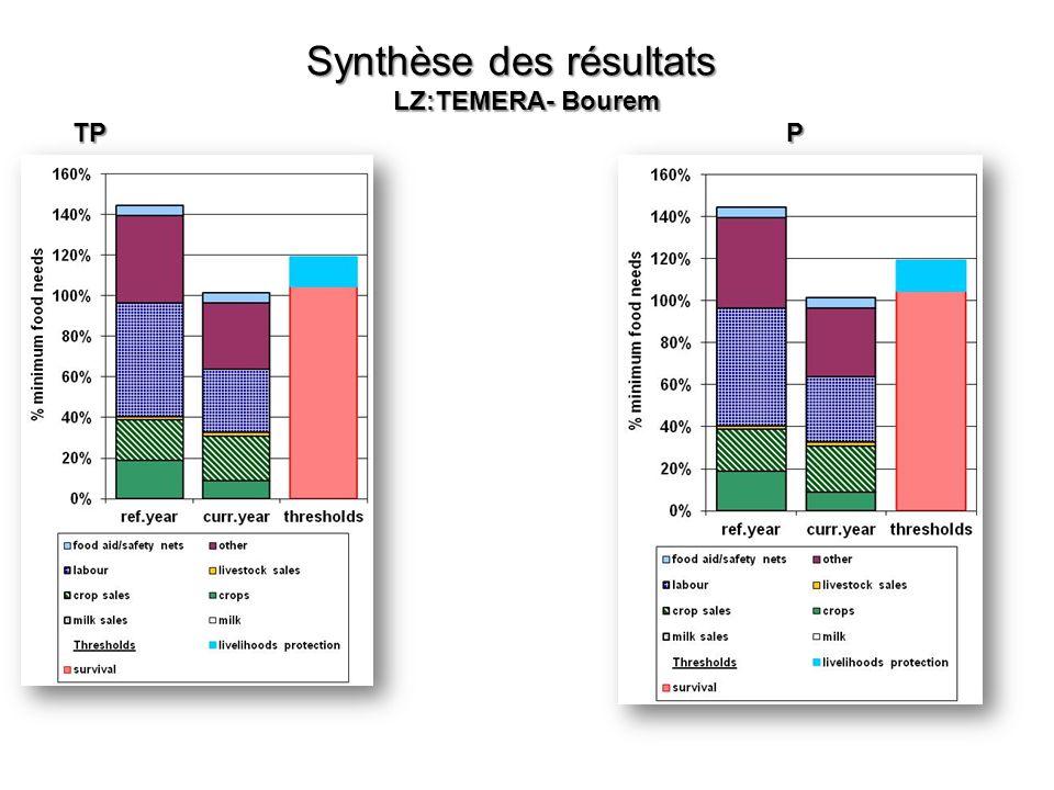 Synthèse des résultats LZ:TEMERA- Bourem TP P