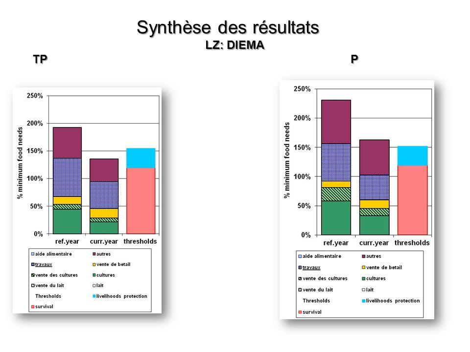 Synthèse des résultats LZ: DIEMA TP P