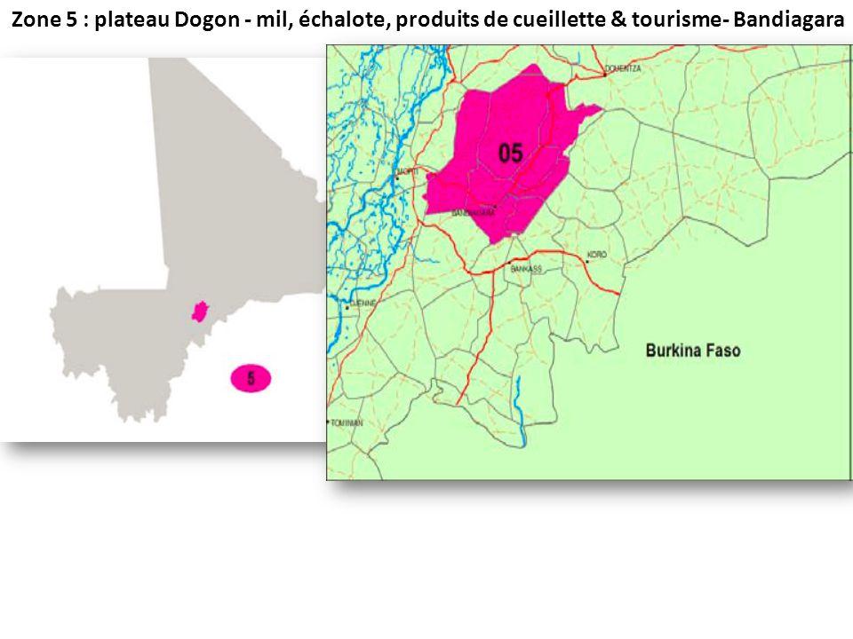 Zone 5 : plateau Dogon - mil, échalote, produits de cueillette & tourisme- Bandiagara