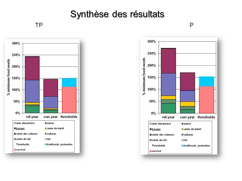 Synthèse des résultats TP P