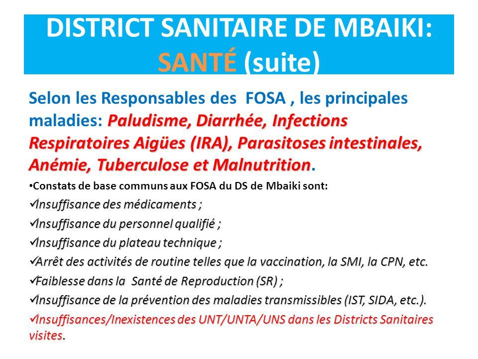 Paludisme, Diarrhée, Infections Respiratoires Aigües (IRA), Parasitoses intestinales, Anémie, Tuberculose et Malnutrition Selon les Responsables des F