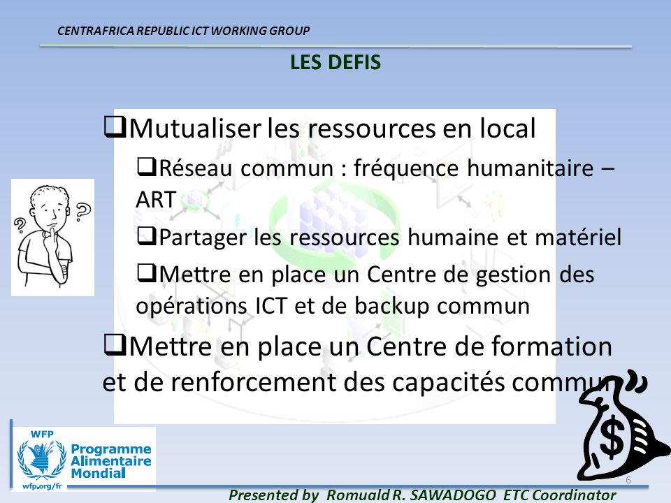 7 LES DEFIS Presented by Romuald R.