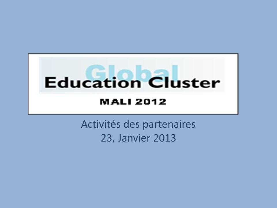 Activités des partenaires 23, Janvier 2013