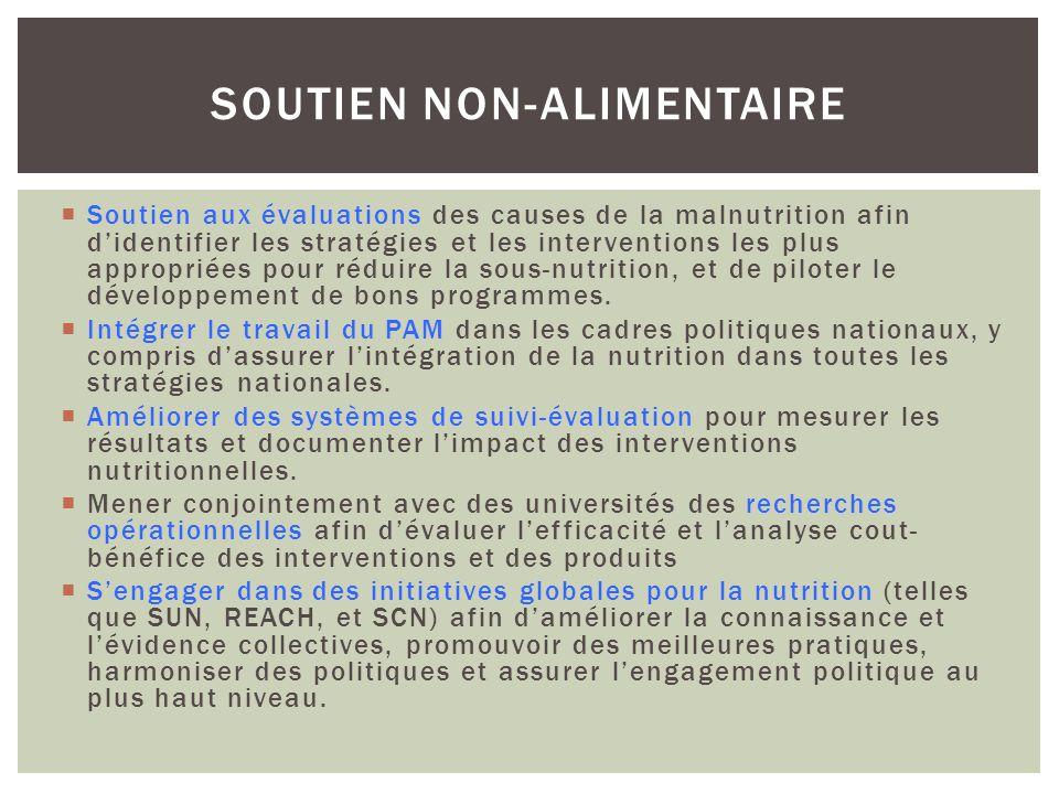 Soutien aux évaluations des causes de la malnutrition afin didentifier les stratégies et les interventions les plus appropriées pour réduire la sous-n