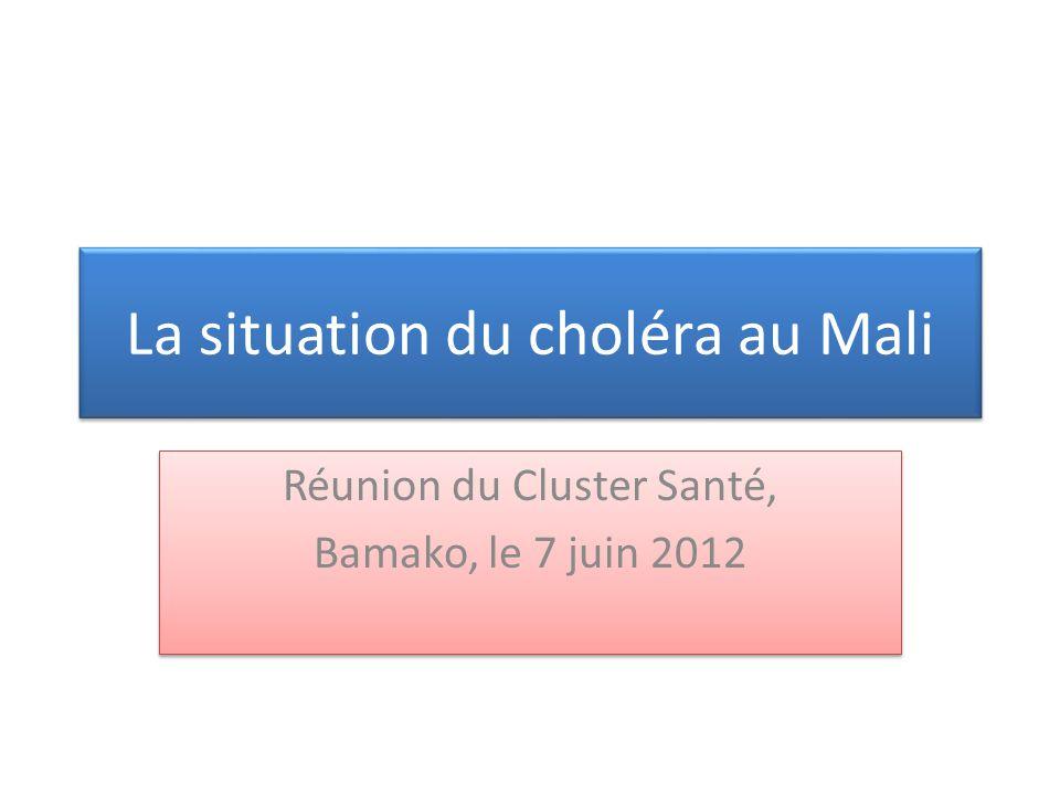 La situation du choléra au Mali Réunion du Cluster Santé, Bamako, le 7 juin 2012 Réunion du Cluster Santé, Bamako, le 7 juin 2012