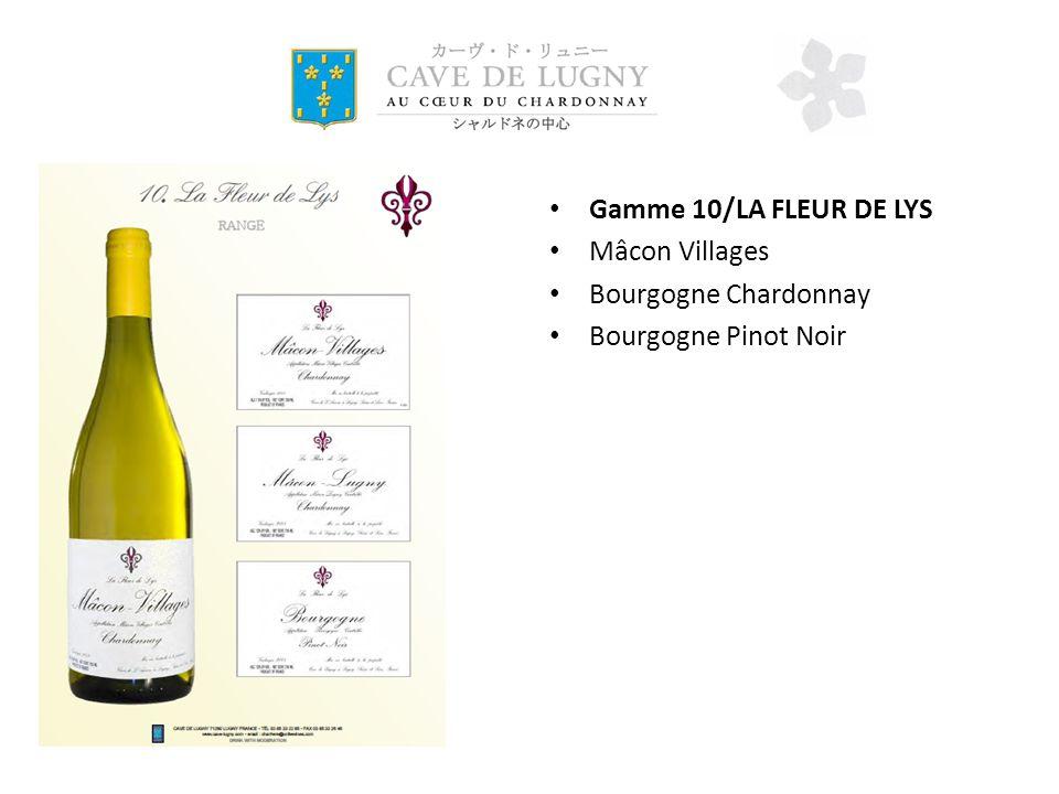 Gamme 10/LA FLEUR DE LYS Mâcon Villages Bourgogne Chardonnay Bourgogne Pinot Noir