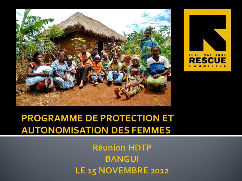 PROGRAMME DE PROTECTION ET AUTONOMISATION DES FEMMES