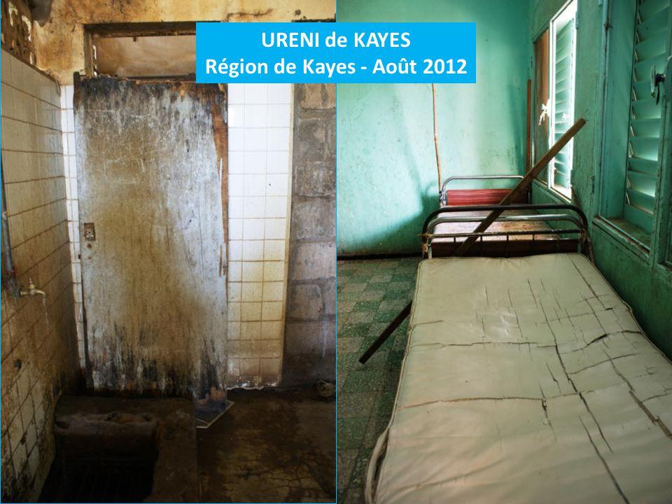 URENI de KAYES Région de Kayes - Août 2012