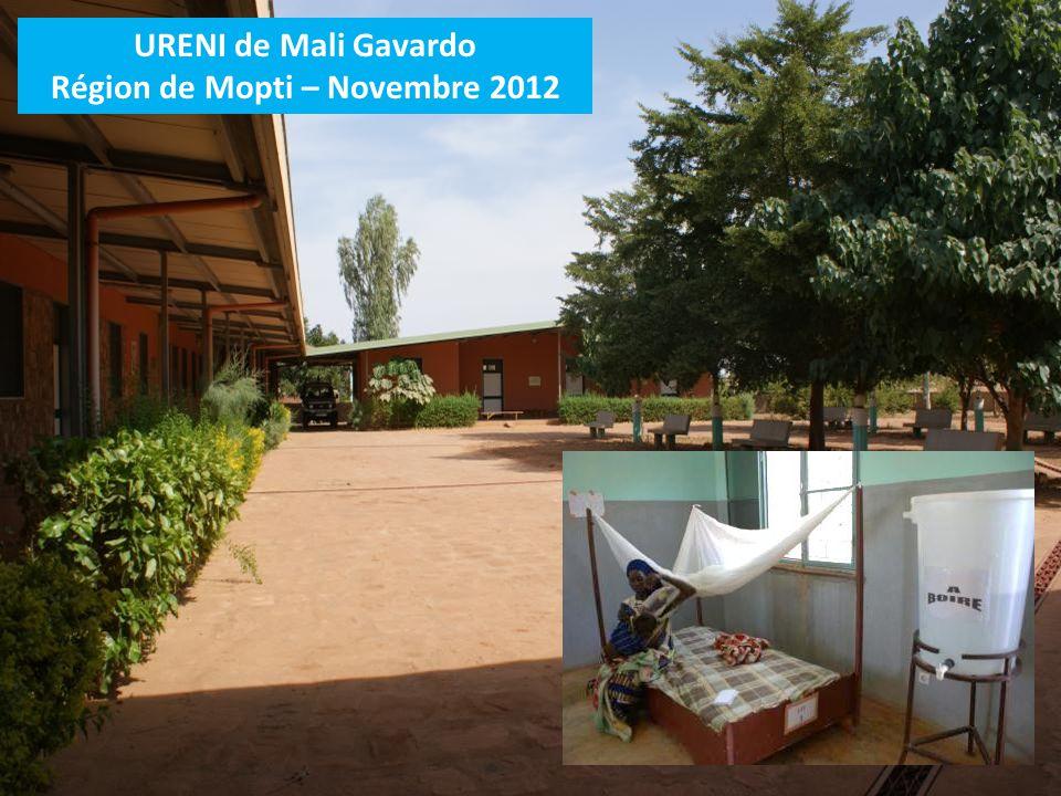 URENI de Mali Gavardo Région de Mopti – Novembre 2012