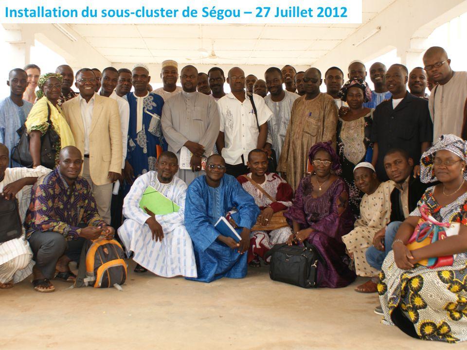 Installation du sous-cluster de Ségou – 27 Juillet 2012