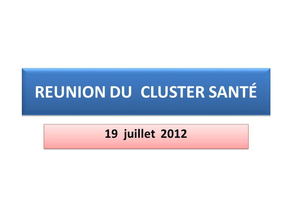 REUNION DU CLUSTER SANTÉ 19 juillet 2012