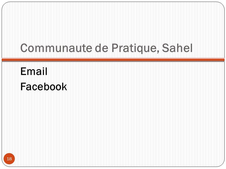Communaute de Pratique, Sahel Email Facebook 18