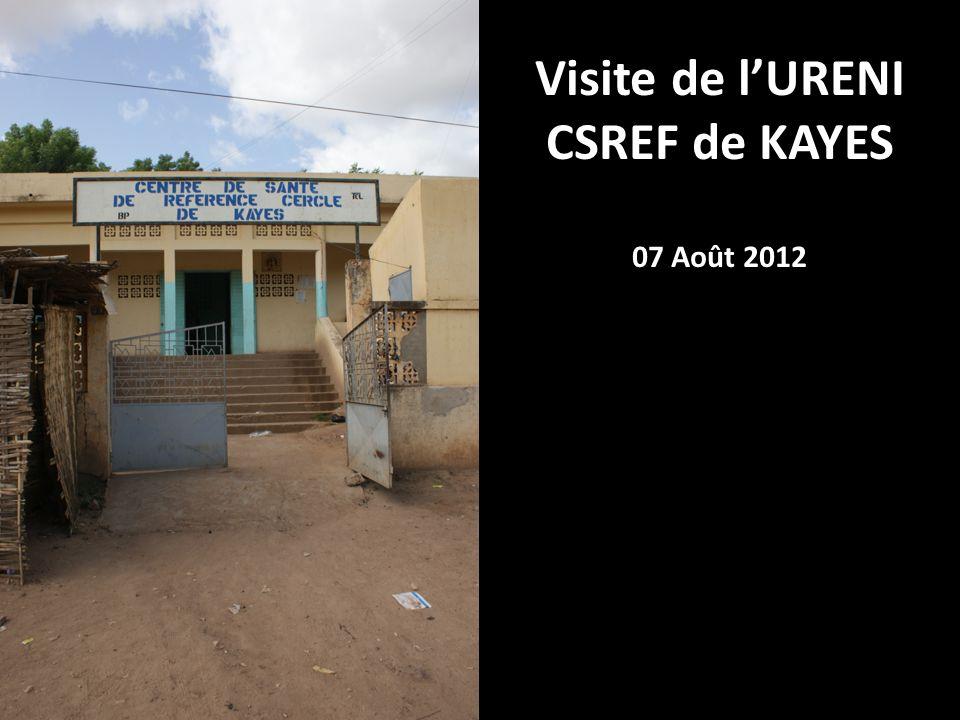 Visite de lURENI CSREF de KAYES 07 Août 2012