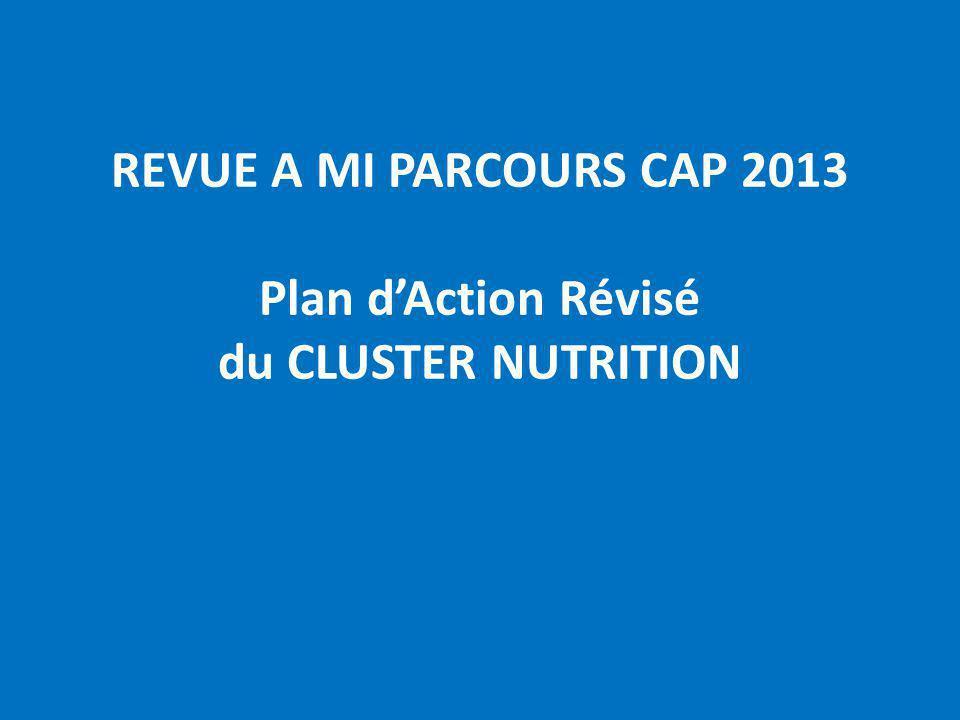 REVUE A MI PARCOURS CAP 2013 Plan dAction Révisé du CLUSTER NUTRITION