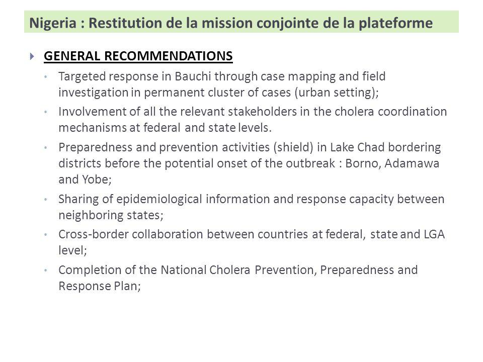 Niger: Restitution de la réunion transfrontalière