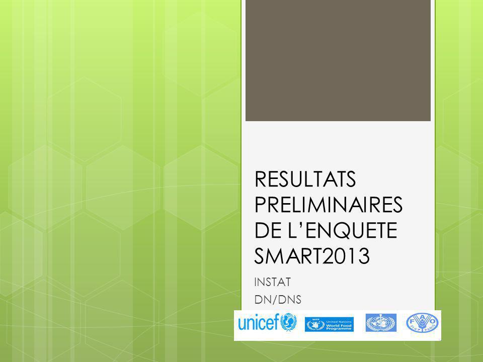 RESULTATS PRELIMINAIRES DE LENQUETE SMART2013 INSTAT DN/DNS