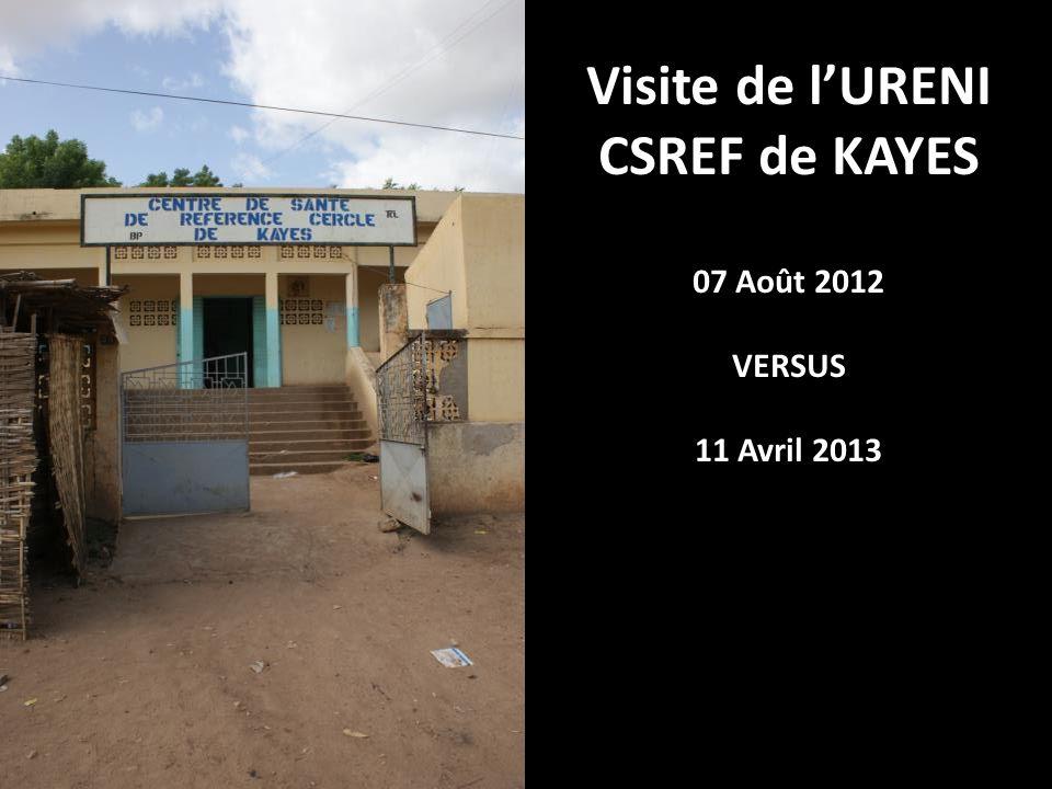 Visite de lURENI CSREF de KAYES 07 Août 2012 VERSUS 11 Avril 2013