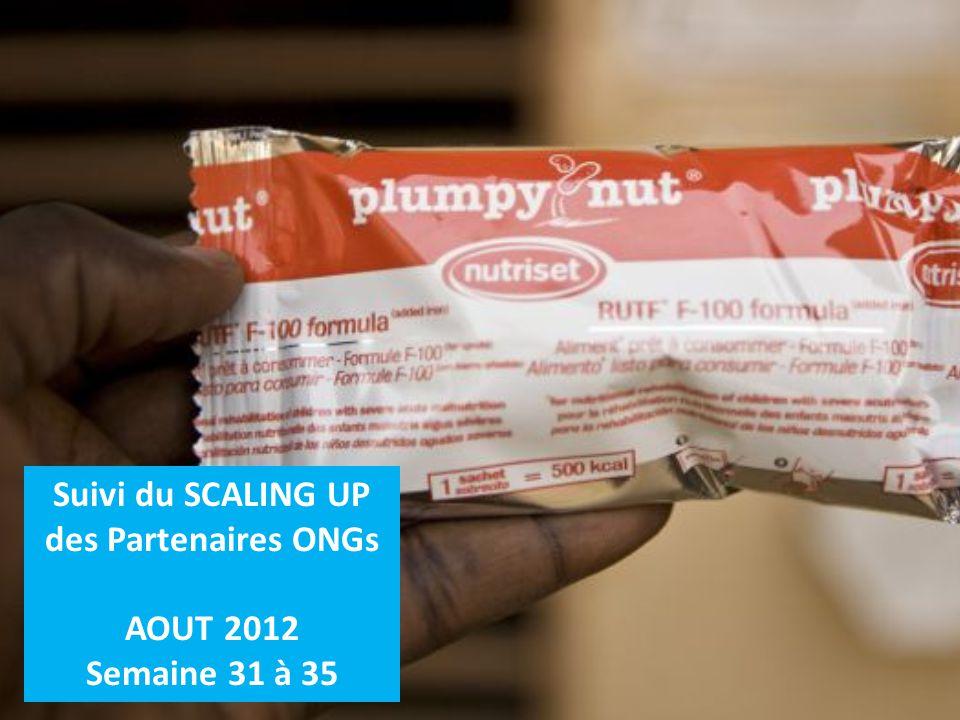 Suivi du SCALING UP des Partenaires ONGs AOUT 2012 Semaine 31 à 35