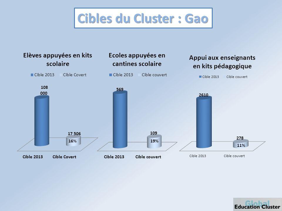 Cibles du Cluster : Gao 16%19%