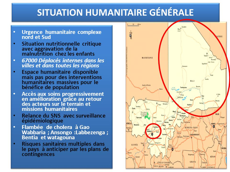 SITUATION SANITAIRE GENERALE Mapping des intervenants SITUATION SANITAIRE GENERALE Mapping des intervenants