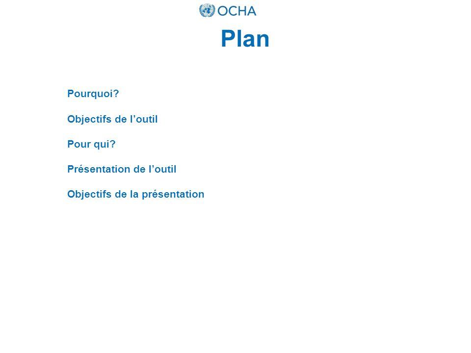 Plan Pourquoi? Objectifs de loutil Pour qui? Présentation de loutil Objectifs de la présentation
