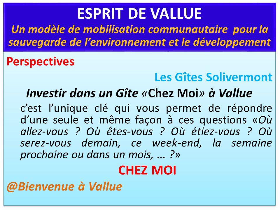 Perspectives Les Gîtes Solivermont Investir dans un Gîte «Chez Moi» à Vallue cest lunique clé qui vous permet de répondre dune seule et même façon à ces questions «Où allez-vous .