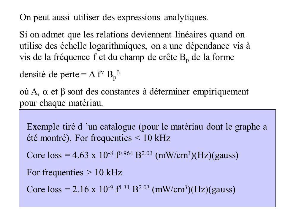 4 On peut aussi utiliser des expressions analytiques.