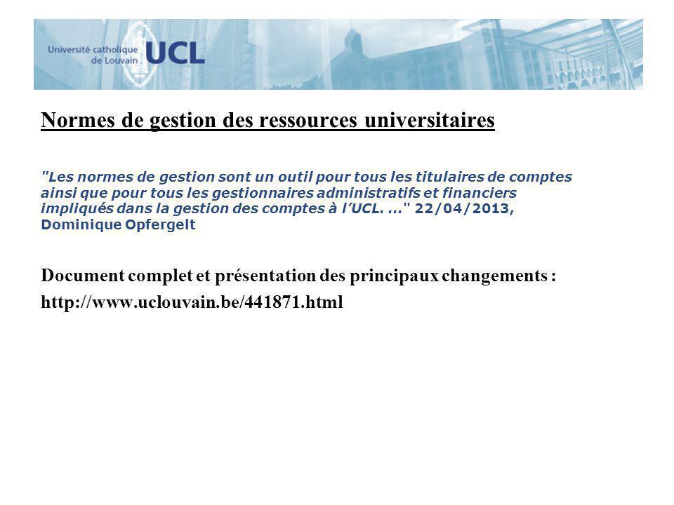 Normes de gestion des ressources universitaires