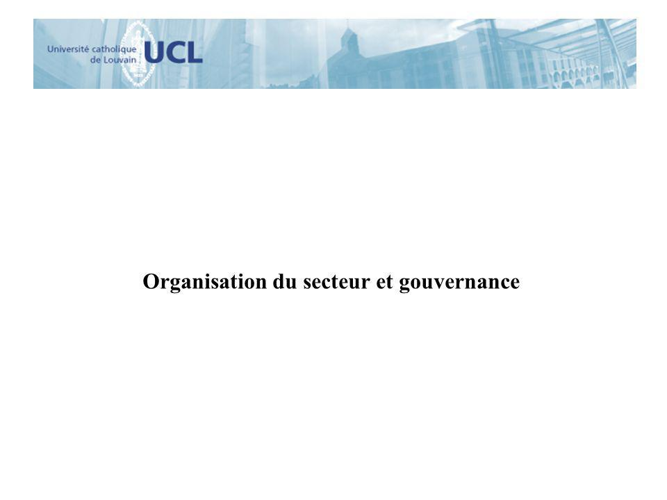 Organisation du secteur et gouvernance